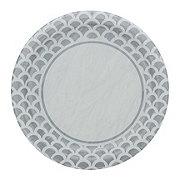 Unique Silver Scallop Plate, 9 inch