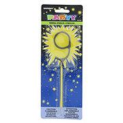 Unique Sparkler Candle Numeral 9