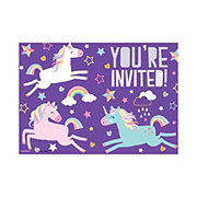 Unique Unicorn Invitations