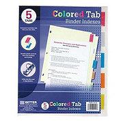 Unison Binder Dividers 5-tab Color