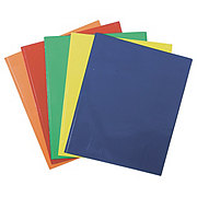 Unison Laminated Folder with Pockets & Prongs, Orange