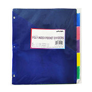 Unison Poly 5-Tab Index Dividers With Pocket