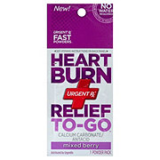 UrgentRx Heart Burn Relief To-Go, Mixed Berry