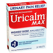 Uricalm Max Maximum Strength Urinary Pain Relief Tablets