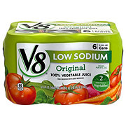 V8 Low Sodium Original 100% Vegetable Juice 11.5 oz Cans