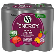 V8 V-Fusion + Energy, Black Cherry, 6 PK Cans
