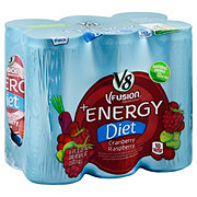V8 V-Fusion + Energy Diet Cranberry Raspberry 6pk Cans
