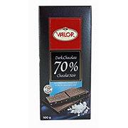 VALOR 70% Dark Chocolate Sea Salt Bar