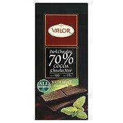 Valor Chocolates Dark Chocolate 70% w/ Mint