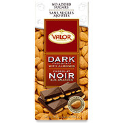 Valor Dark Chocolate With Almonds Sugar Free Bar