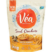 Vea Seed Crackers Green Hummus with Olive Oil Crackers