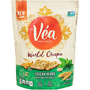 Vea World Crisps Tuscan Herbs Roasted Garlic Crackers