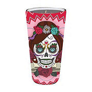 Veladora Aromatica Day Of Dead Candle Lady Skull Pink ‑ Shop