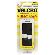 Velcro Sticky Back 18 in Black Tape General Purpose Adhesive Fasteners