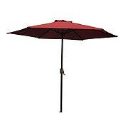 Vendor Development Group Cranberry Steel 9 ft Umbrella