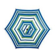 Vendor Development Group Patio Umbrella Green Stripe 9 ft