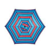 Vendor Development Group Patio Umbrella Red Stripe 9 ft