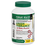 Vibrant Health Green Vibrance Organic Greens And Freeze Dried Grass Juices Vegicaps