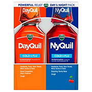 Vicks DayQuil NyQuil Cold & Flu Multi-Symptom Relief Liquid Combo Pack