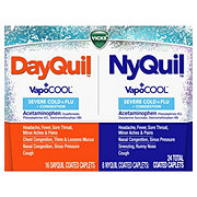 Vicks DayQuil NyQuil Severe Cold & Flu Caplets Combo Pack