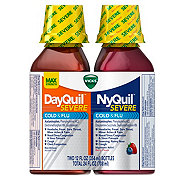 Vicks DayQuil NyQuil Severe Cold & Flu Liquid Combo Pack