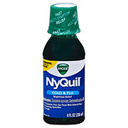 Vicks NyQuil Cold & Flu Nighttime Relief - Shop Cough ...