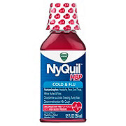 Vicks NyQuil HBP Cold & Flu Nighttime Relief Cherry Liquid