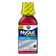 Vicks NyQuil Severe Cold and Flu Nighttime Relief Max Strength Berry Flavor