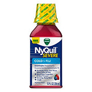 Vicks NyQuil Severe Cold & Flu Nighttime Relief Berry Liquid