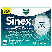 Vicks Sinex Nighttime Sinus Congestion, Pressure & Pain LiquiCaps