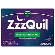 Vicks ZzzQuil Nighttime Sleep Aid LiquiCaps