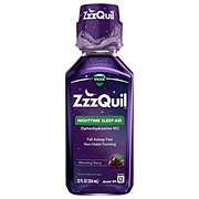 Vicks ZzzQuil Nighttime Sleep Aid Warming Berry