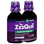 Vicks ZzzQuil Nighttime Sleep-Aid Warming Berry Flavor 2 Pack