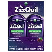 Vicks ZzzQuil Nighttime Sleep Aid Warming Berry Liquid 2 pk