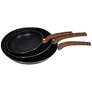 Victoria Fry Pan Marble Faux Wood 3 Piece