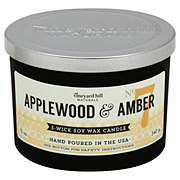 Vineyard Hill Naturals Applewood & Amber Scented Wax Candle