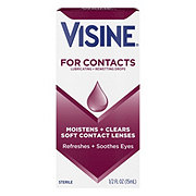 Visine Lubricating + Rewetting Drops for Contacts