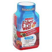 VitaFusion Fiber Well Peach, Strawberry, & Blackberry Fiber Supplement Prebiotic Gummies