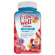 VitaFusion Fiber Well Peach, Strawberry, & Blackberry Fiber Supplement Prebiotic Gummies
