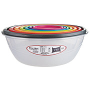 VMI Bowl Set With Multicolor Lids