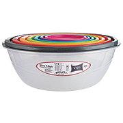 VMI Bowl Set With Multicolor Lids