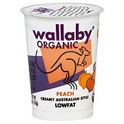 Wallaby Organic Low Fat Peach Yogurt