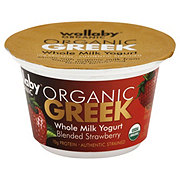 Wallaby Organic Whole Milk Greek Strawberry Yogurt