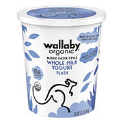 Wallaby Organic Whole Milk Plain Greek Yogurt
