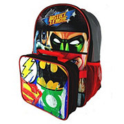 Warner Bros Justice League Back Pack With Lunch Kit