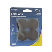 Waxman SoftTouch Felt Pads, 1.5 in Brown