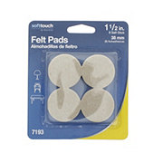 Waxman SoftTouch Felt Pads, 1.5 in Oatmeal