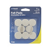 Waxman SoftTouch Felt Pads, 1 in Oatmeal
