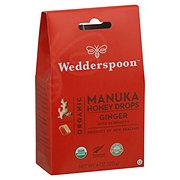 Wedderspoon Organic Manuka Honey Drops Ginger Echinacea