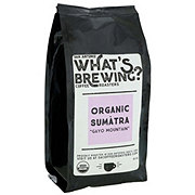 What's Brewing Organic Sumatra Ground Coffee